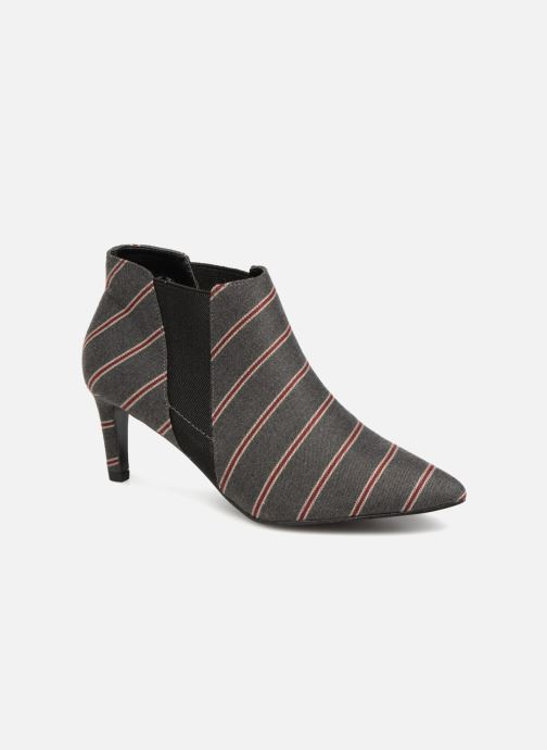 Boots en enkellaarsjes Monoprix Femme BOOTS RAYEE POINTUE Grijs detail