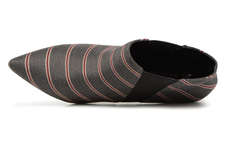 Stivaletti e tronchetti Monoprix Femme BOOTS RAYEE POINTUE Grigio immagine sinistra