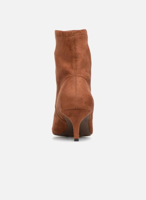 Ankle boots Monoprix Femme BOOTS CHAUSSETTE TALON Brown view from the right