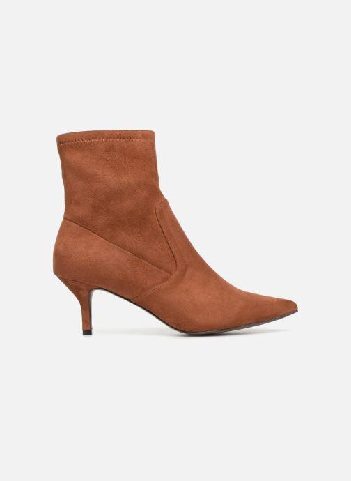 Ankle boots Monoprix Femme BOOTS CHAUSSETTE TALON Brown back view
