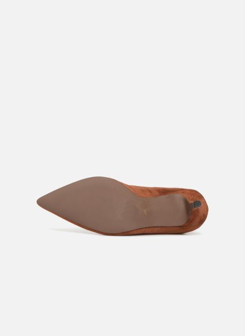 Ankle boots Monoprix Femme BOOTS CHAUSSETTE TALON Brown view from above