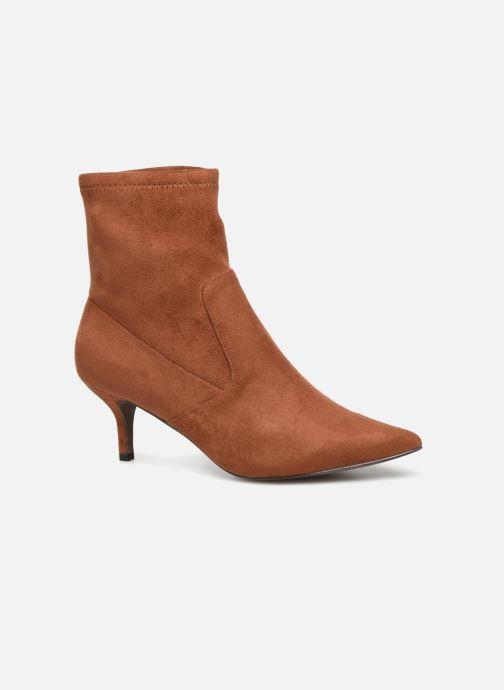Ankle boots Monoprix Femme BOOTS CHAUSSETTE TALON Brown detailed view/ Pair view