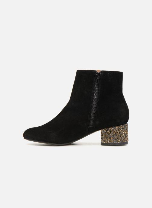 Bottines et boots Monoprix Femme BOTTINE TALON BRILLANT Noir vue face