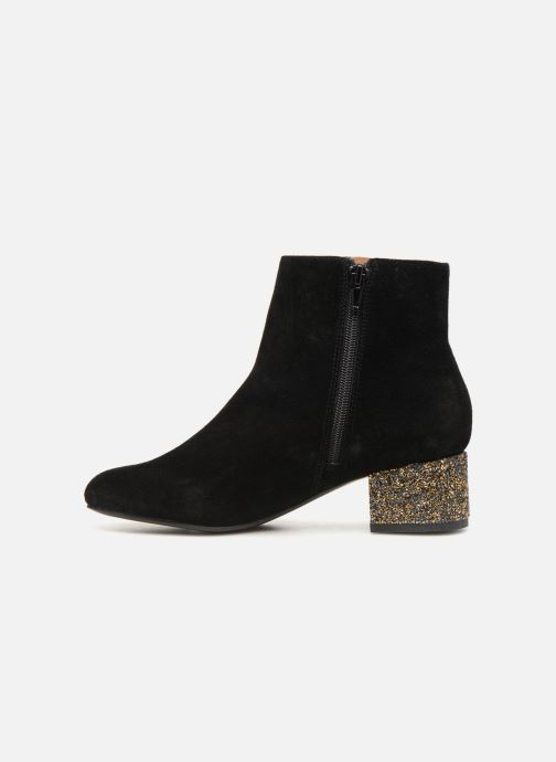 Bottines et boots Monoprix Femme BOTTINE TALON BRILLANT Noir vue face