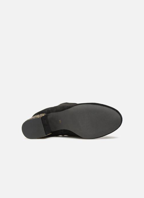 Bottines et boots Monoprix Femme BOTTINE TALON BRILLANT Noir vue haut