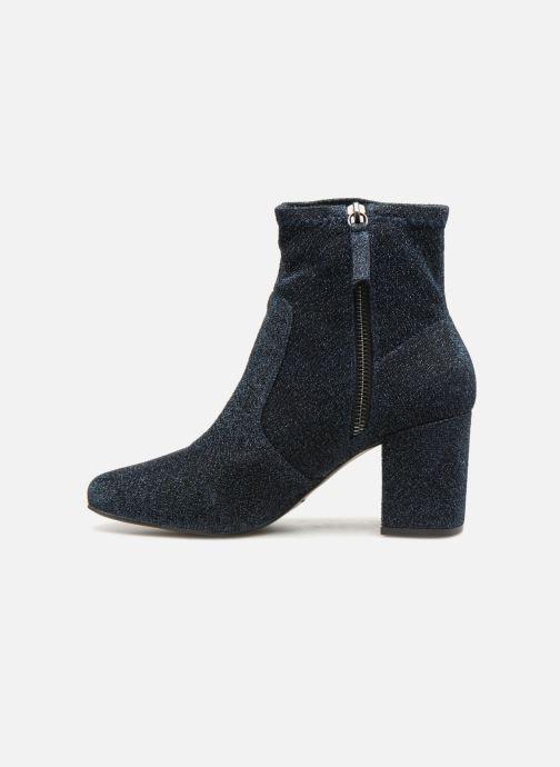 Bottines et boots Monoprix Femme BOOTS CHAUSSETTE PAILLETTE Bleu vue face