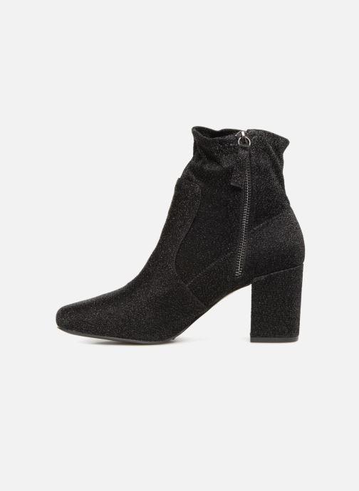 Bottines et boots Monoprix Femme BOOTS CHAUSSETTE PAILLETTE Noir vue face