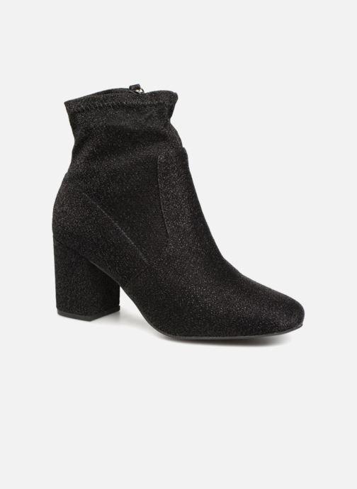 Ankle boots Monoprix Femme BOOTS CHAUSSETTE PAILLETTE Black detailed view/ Pair view
