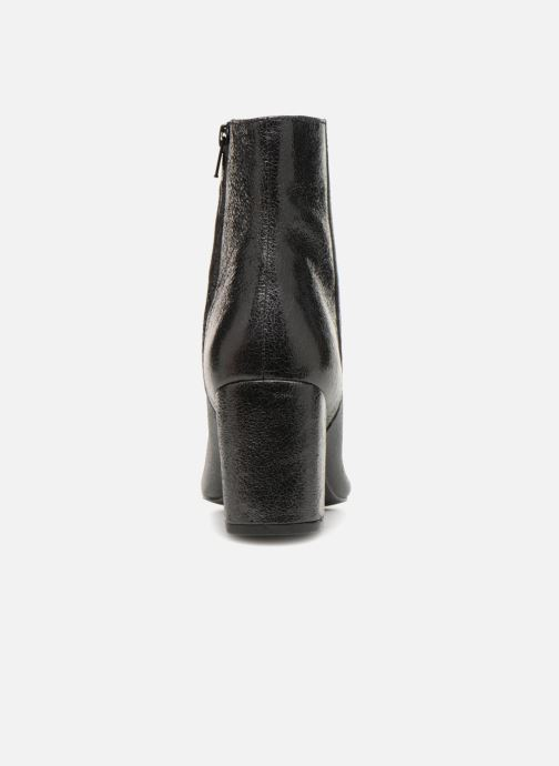 Bottines et boots Monoprix Femme BOTTINE TALON CUIR CRAQUELE Noir vue droite