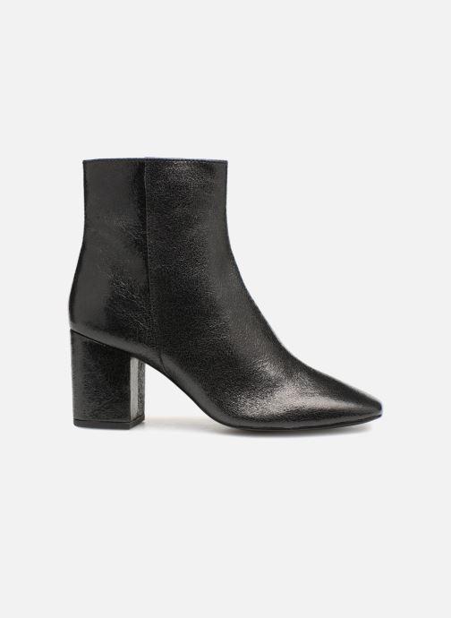 Bottines et boots Monoprix Femme BOTTINE TALON CUIR CRAQUELE Noir vue derrière