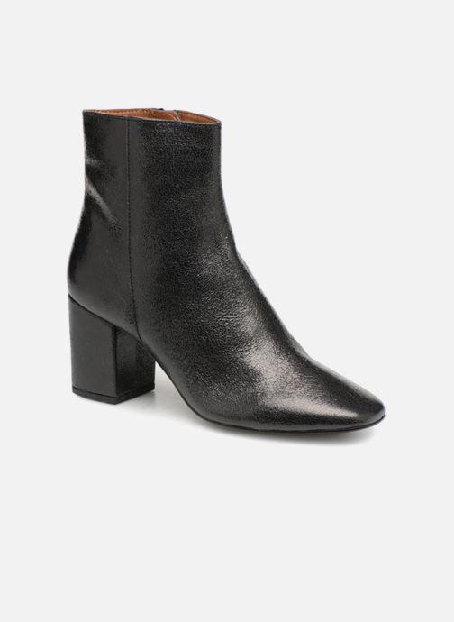 Bottines et boots Monoprix Femme BOTTINE TALON CUIR CRAQUELE Noir vue détail/paire