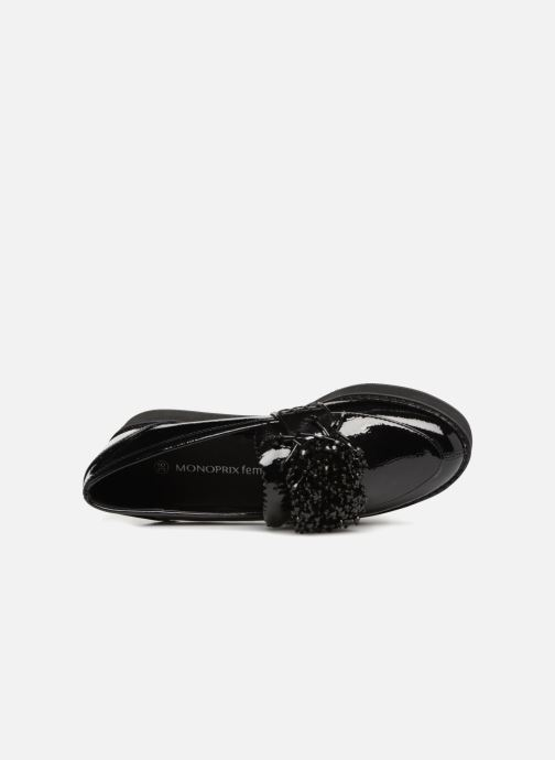 Loafers Monoprix Femme MOCASSIN COMPENSE Black view from the left