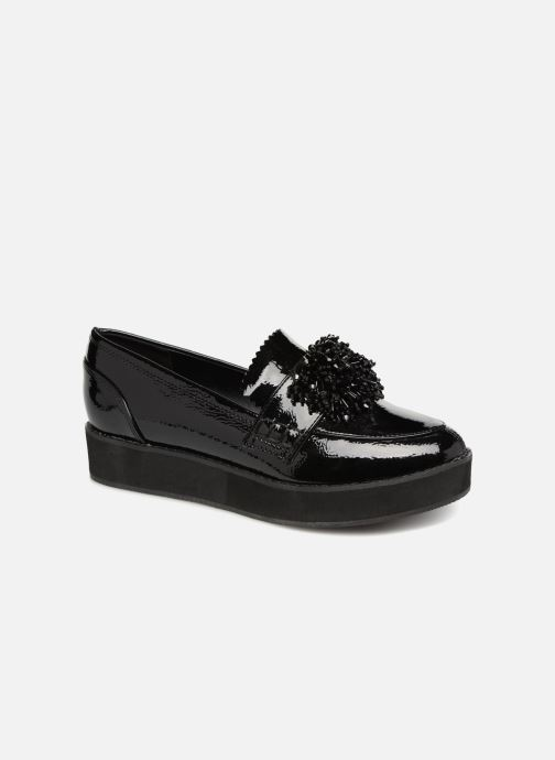 Loafers Monoprix Femme MOCASSIN COMPENSE Black detailed view/ Pair view