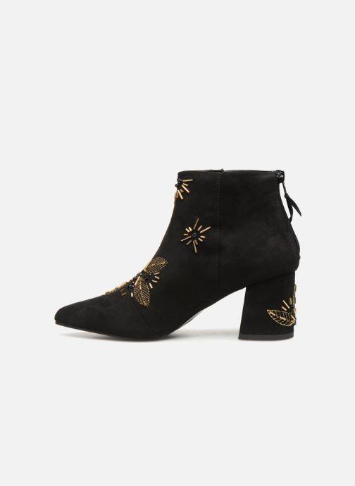 Bottines et boots Monoprix Femme BOTTINE TALON BRODEE Noir vue face