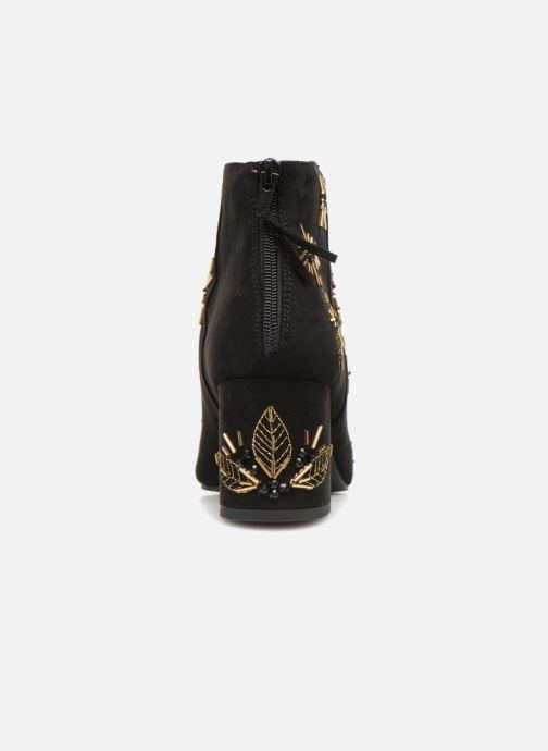 Bottines et boots Monoprix Femme BOTTINE TALON BRODEE Noir vue droite