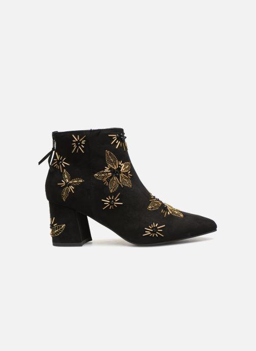 Bottines et boots Monoprix Femme BOTTINE TALON BRODEE Noir vue derrière