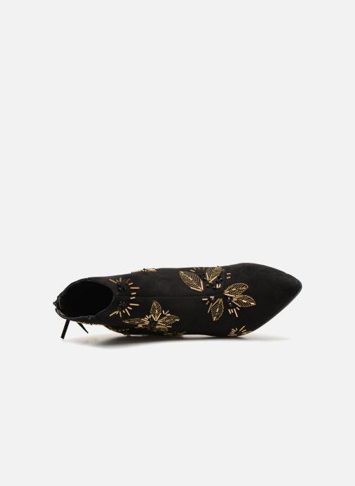 Bottines et boots Monoprix Femme BOTTINE TALON BRODEE Noir vue gauche