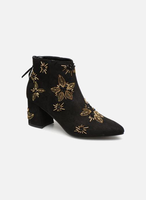 Ankle boots Monoprix Femme BOTTINE TALON BRODEE Black detailed view/ Pair view