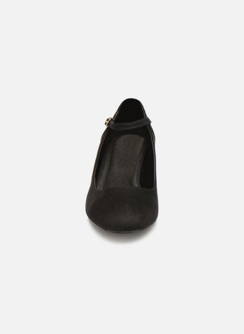 Pumps Monoprix Femme BABIES VELOURS BRODEE schwarz schuhe getragen