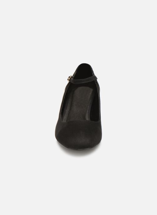 Zapatos de tacón Monoprix Femme BABIES VELOURS BRODEE Negro vista del modelo