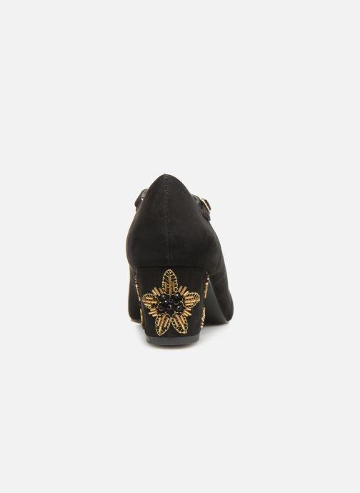 Zapatos de tacón Monoprix Femme BABIES VELOURS BRODEE Negro vista lateral derecha