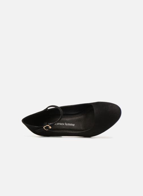 Zapatos de tacón Monoprix Femme BABIES VELOURS BRODEE Negro vista lateral izquierda