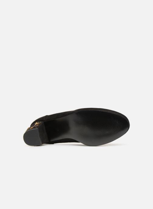 Zapatos de tacón Monoprix Femme BABIES VELOURS BRODEE Negro vista de arriba