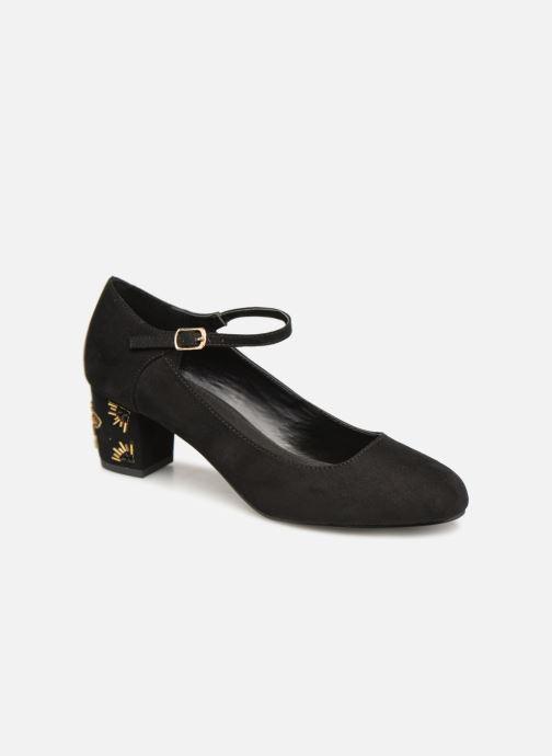 Zapatos de tacón Monoprix Femme BABIES VELOURS BRODEE Negro vista de detalle / par