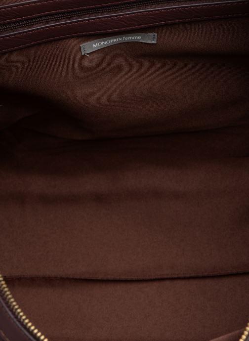 Handtassen Monoprix Femme SAC 24H PU MATELASSE Paars achterkant