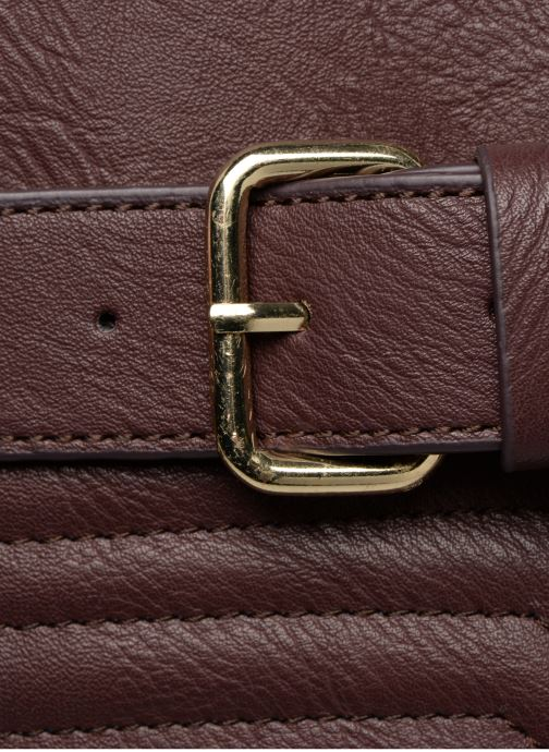 Bolsos de mano Monoprix Femme SAC 24H PU MATELASSE Violeta      vista lateral izquierda