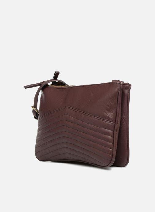 Handtaschen Monoprix Femme POCHETTE PU 2 ZIP MATELASSE lila schuhe getragen