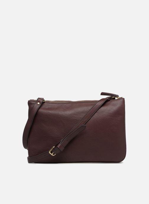 Handtaschen Monoprix Femme POCHETTE PU 2 ZIP MATELASSE lila ansicht von vorne