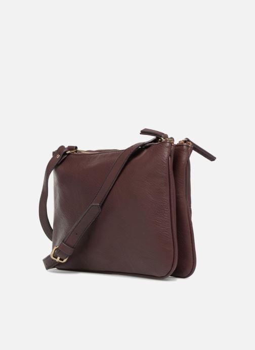 Handtaschen Monoprix Femme POCHETTE PU 2 ZIP MATELASSE lila ansicht von rechts