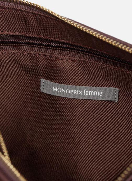 Handtaschen Monoprix Femme POCHETTE PU 2 ZIP MATELASSE lila ansicht von hinten
