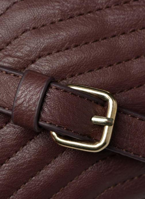 Handtaschen Monoprix Femme POCHETTE PU 2 ZIP MATELASSE lila ansicht von links