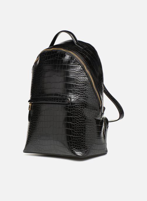 Rucksäcke Monoprix Femme SAC A DOS PU CROCO schwarz schuhe getragen