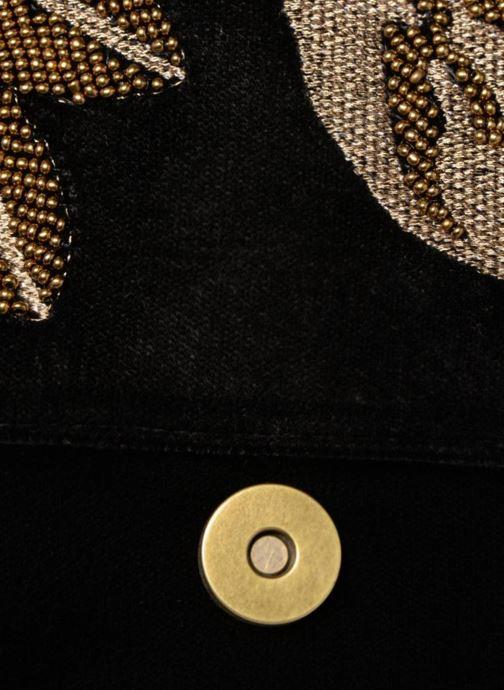 Handtaschen Monoprix Femme POCHETTE VELOURS BRODE schwarz ansicht von hinten