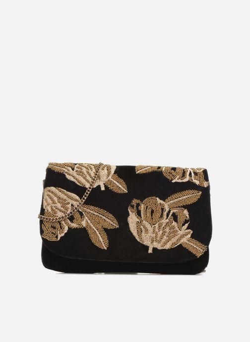 Handtaschen Monoprix Femme POCHETTE VELOURS BRODE schwarz detaillierte ansicht/modell
