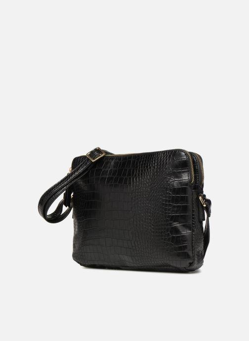 Sacs à main Monoprix Femme POCHETTE 2 COMPARTIMENTS SERPENT Noir vue portées chaussures