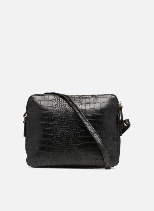 Handtaschen Monoprix Femme POCHETTE 2 COMPARTIMENTS SERPENT schwarz ansicht von vorne