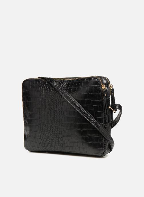 Handtaschen Monoprix Femme POCHETTE 2 COMPARTIMENTS SERPENT schwarz ansicht von rechts