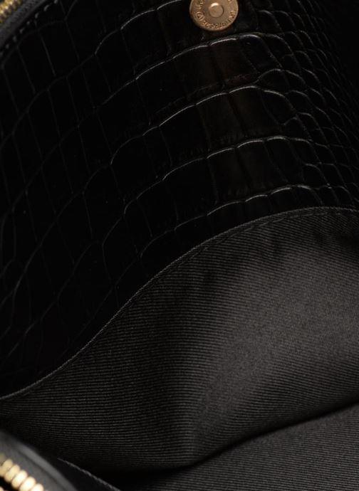 Handtaschen Monoprix Femme POCHETTE 2 COMPARTIMENTS SERPENT schwarz ansicht von hinten