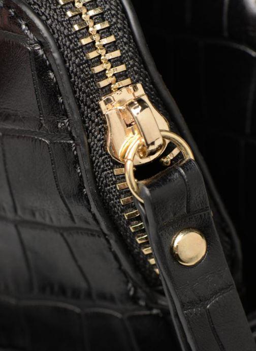 Sacs à main Monoprix Femme POCHETTE 2 COMPARTIMENTS SERPENT Noir vue gauche