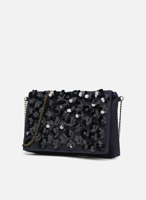 Bolsos de mano Monoprix Femme POCHETTE VELOURS PERLES Azul vista del modelo