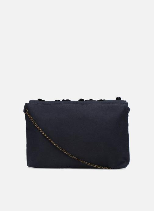 Bolsos de mano Monoprix Femme POCHETTE VELOURS PERLES Azul vista de frente