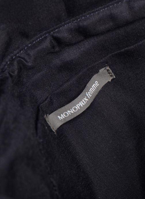 Handtaschen Monoprix Femme POCHETTE VELOURS PERLES blau ansicht von hinten