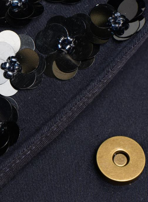Handtaschen Monoprix Femme POCHETTE VELOURS PERLES blau ansicht von links
