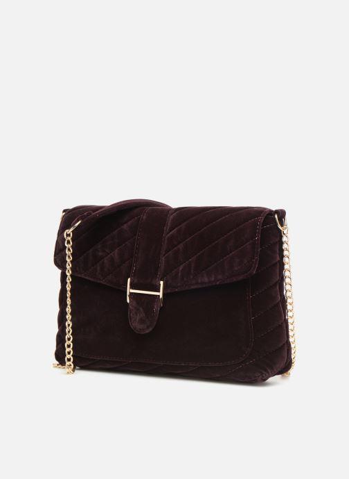 Handtaschen Monoprix Femme POCHETTE VELOURS MATELASSEE lila schuhe getragen