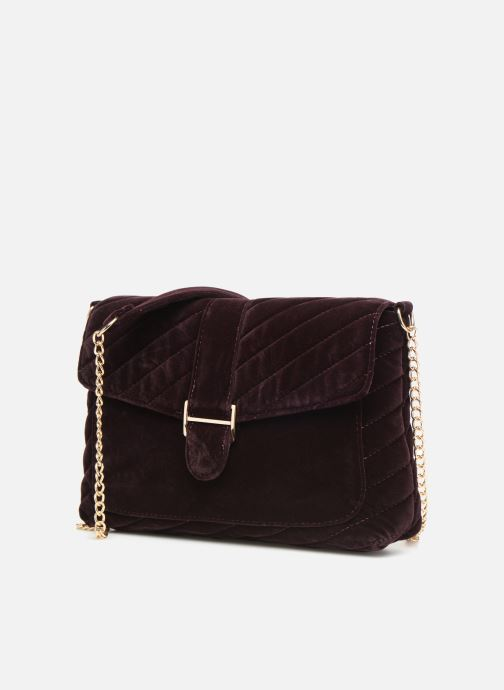 Handbags Monoprix Femme POCHETTE VELOURS MATELASSEE Purple model view