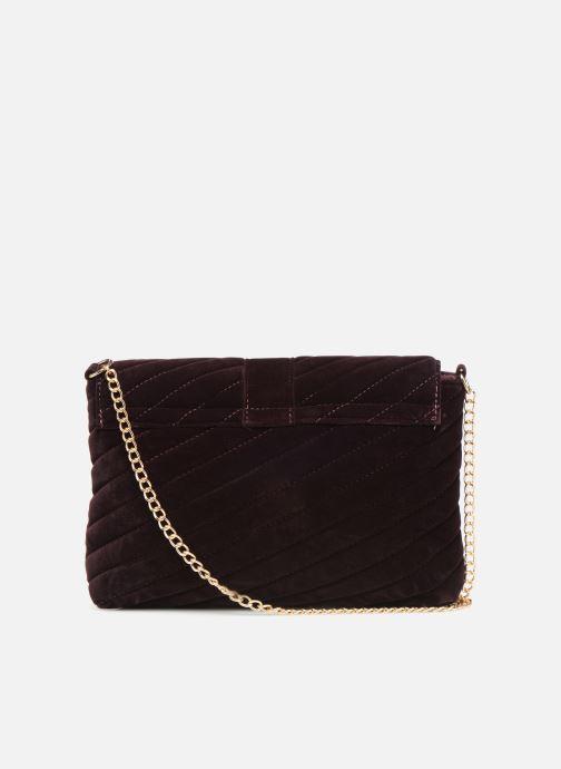 Handbags Monoprix Femme POCHETTE VELOURS MATELASSEE Purple front view